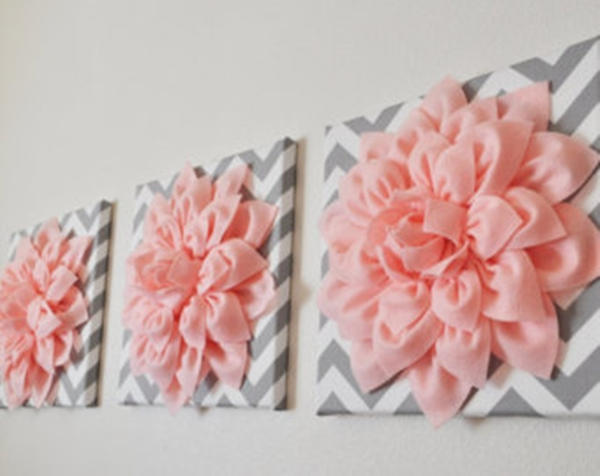 3D felt flower wall art14