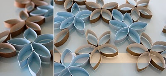 3D flower art from paper roll7 Wonderful DIY 3D flower art from paper rolls