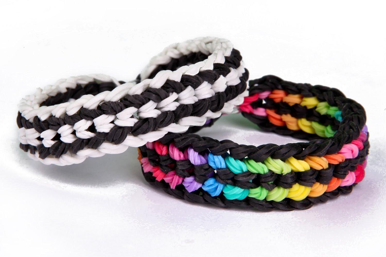 Beautiful Tire Track Rainbow Loom Bracelets