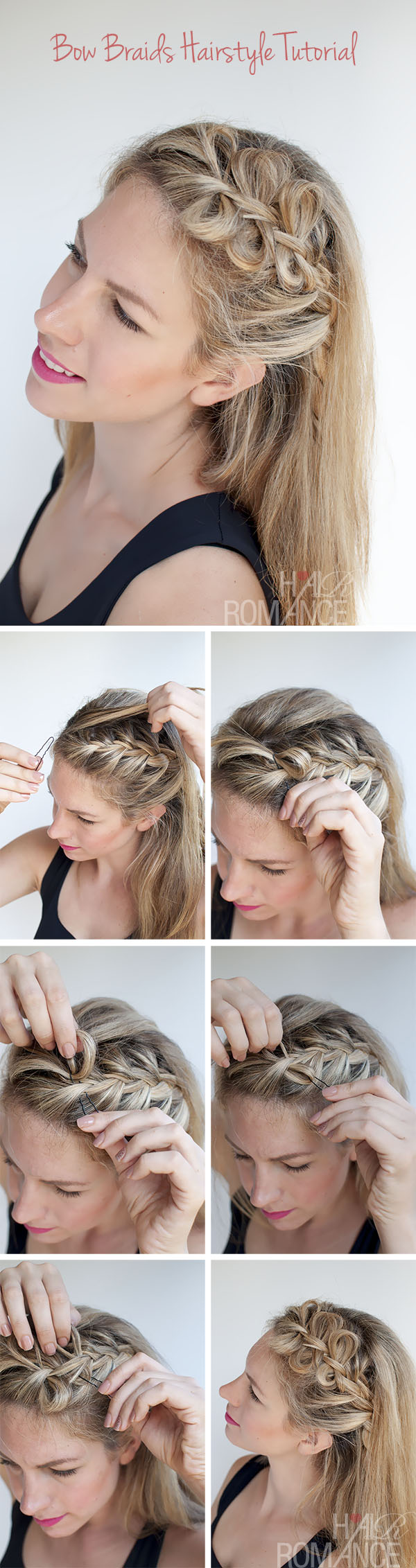 Bow braids hairstyle 1 Wonderful DIY Pretty Bow Braids Hairstyle