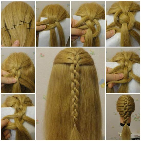 Braided Chain Pigtail Hairstyle Wonderful DIY Braided Chain Hairstyle