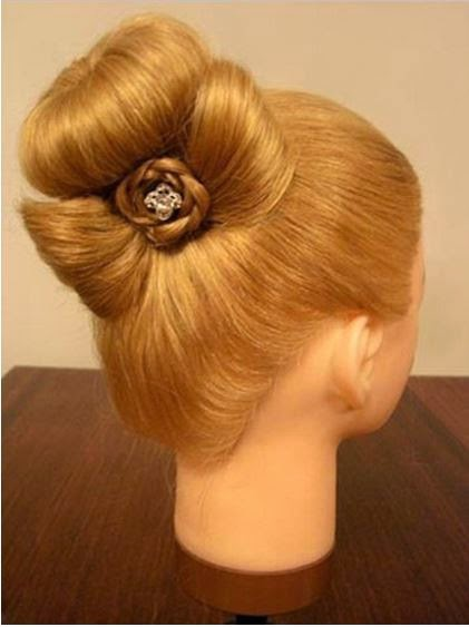 Braided rose Bow Hairstyle01 Wonderful DIY Bun with Cute Rose Bow Hairstyle