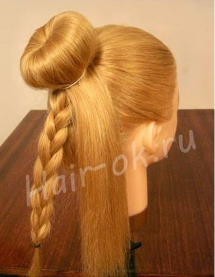 Braided rose Bow Hairstyle04