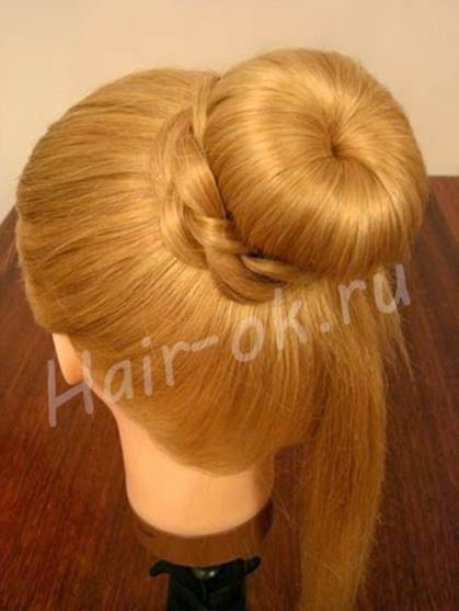 Braided rose Bow Hairstyle05