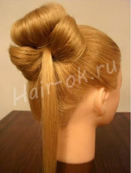 Braided rose Bow Hairstyle08