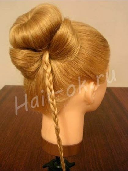Braided rose Bow Hairstyle09