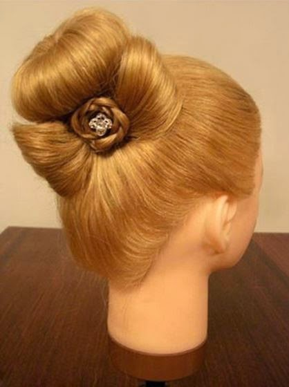 Braided rose Bow Hairstyle9-1
