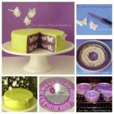 Wonderful DIY Butterflies Surprise Cake