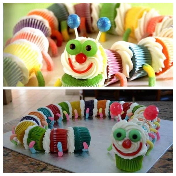 Caterpillar Cupcakes F The Cutest Caterpillar Cupcakes   Free Guide and Recipe