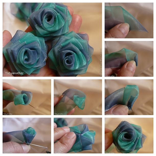 Chiffon Ribbon Rosette F Wonderful DIY Beautiful Chiffon Ribbon Rosette