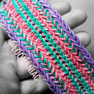 Tire Track Rainbow Loom Bracelets – Tutorial