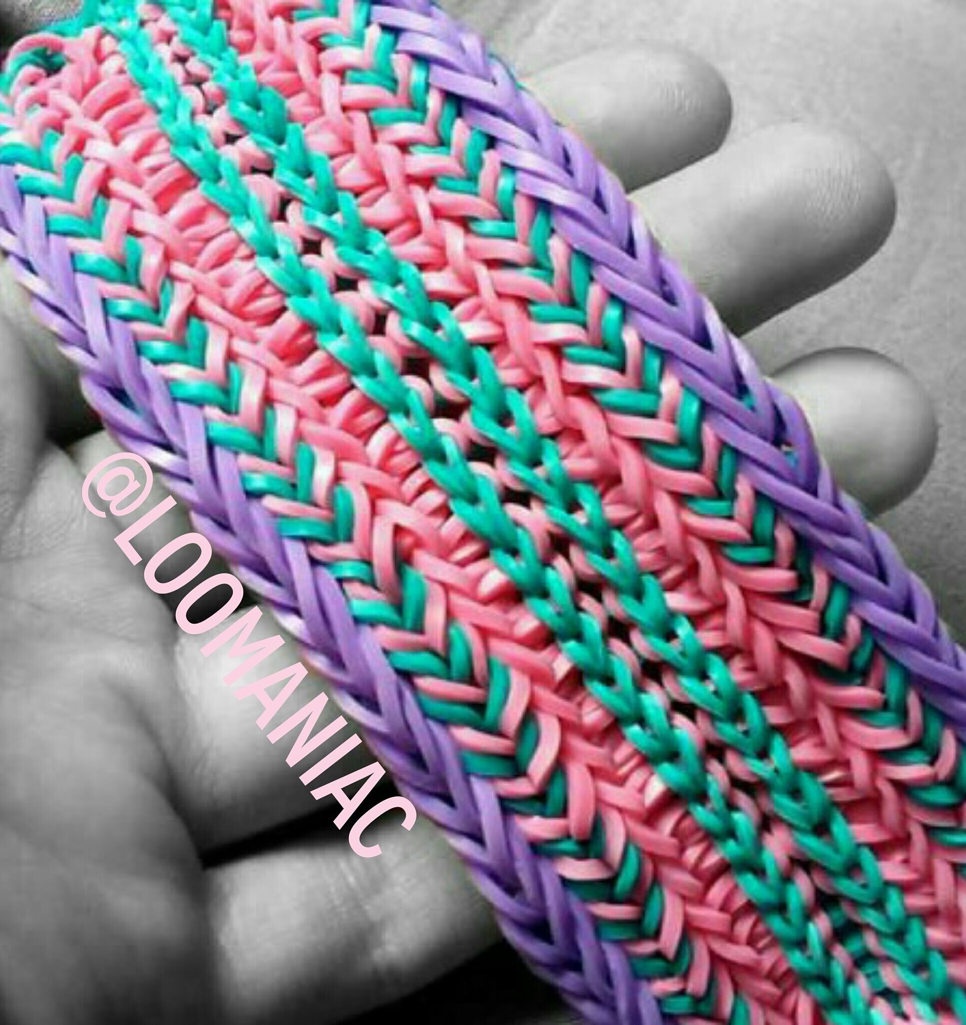 Colorful Tire Track Rainbow Loom Bracelets