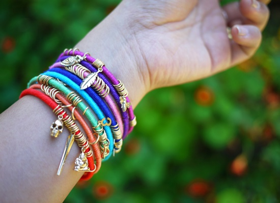Colorful Wrap Bangles9-1