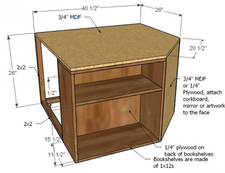 Corner Unit for the Twin Storage Bed2 Space Saving Twin Bed Corner Unit   Guide and Tutorial