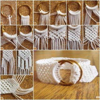 Cute and Elegant Cotton Macrame Bracelet