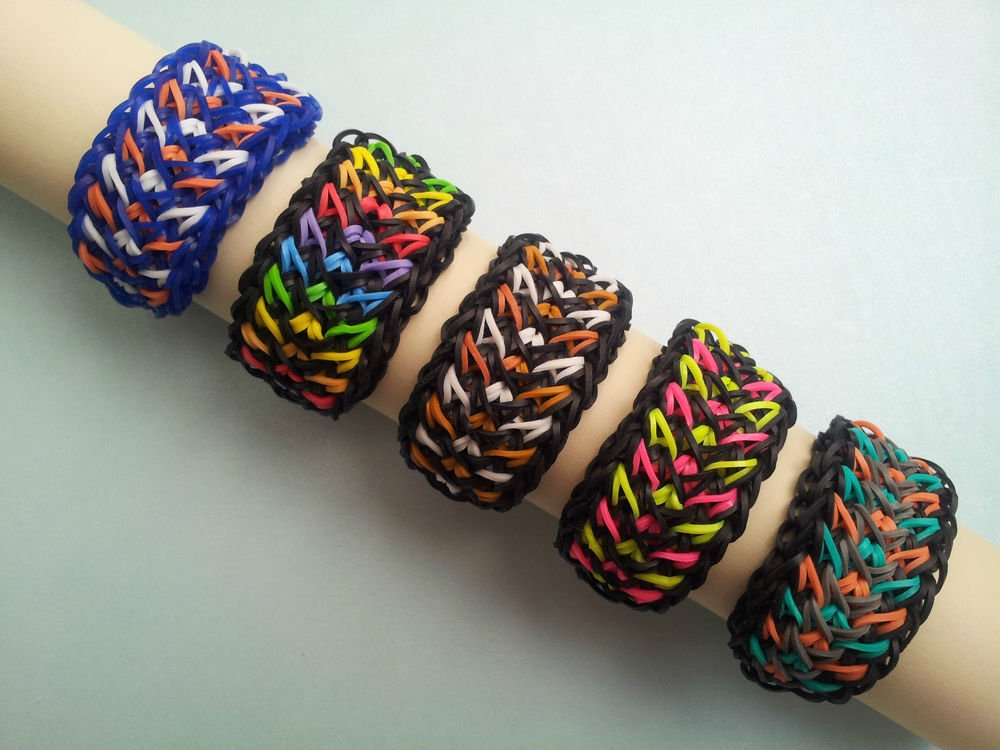 View In Gallery Crazy Tire Track Rainbow Loom Bracelets Tutorial