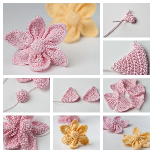 Crochet Cute Little Flower F Wonderful DIY Crochet Cute Little Flower