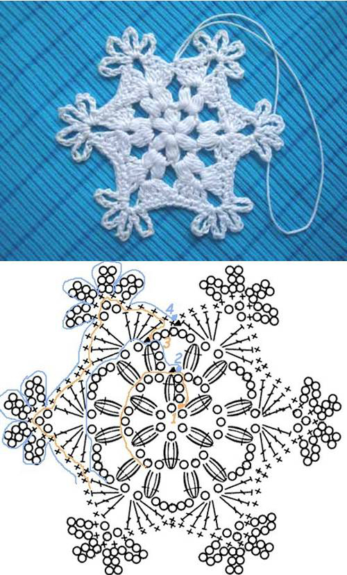 Crochet Snowflake Pattern 00 07 Wonderful DIY Crochet Snowflakes With Pattern
