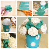 Wonderful DIY  Pretty Rose Cupcake Bouquet
