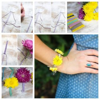 Wonderful DIY Summer Fresh Flowers Bracelet