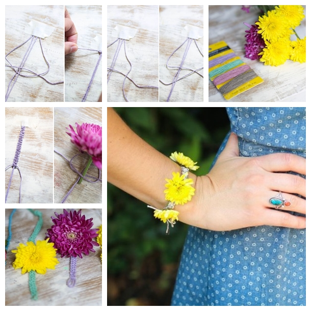 DIY Fresh flower bracelet F