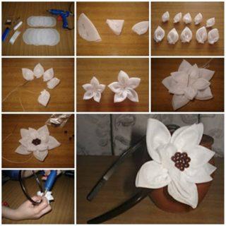 Wonderful DIY Pretty Ribbon Flower Headband