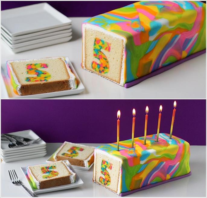 DIY Tie Dye Rainbow surprise Cake tutorial Wonderful DIY Rainbow Tie Dye Surprise Cake