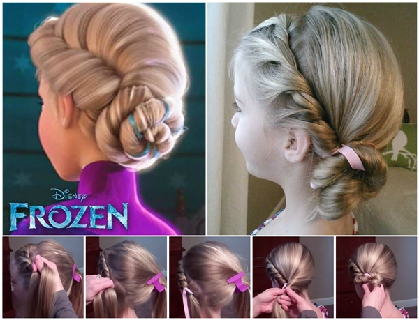 Disney  Frozen Coronation hairstyle