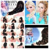 Wonderful DIY Disney Frozen Elsa's braid Hairstyle