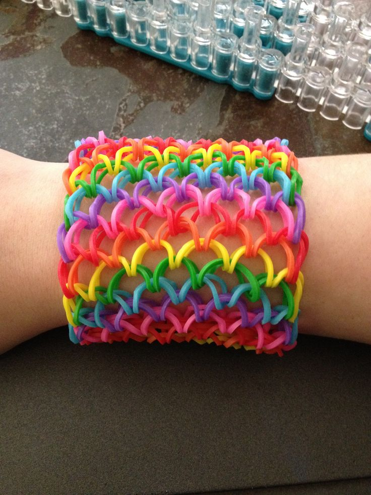 Dragon Scale Cuff Bracelet Wonderful DIY Fantastic Rainbow Loom Craft Collection