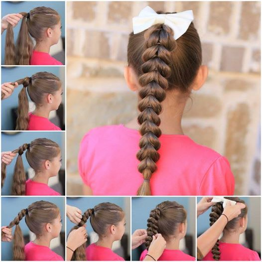 Easy Pull Through Braid Hairstyle