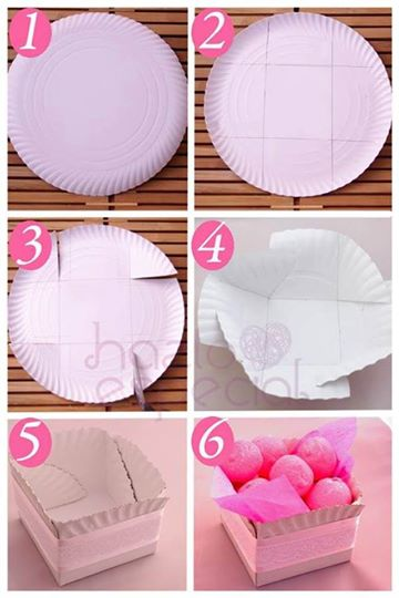 Easy food container with a paper plate