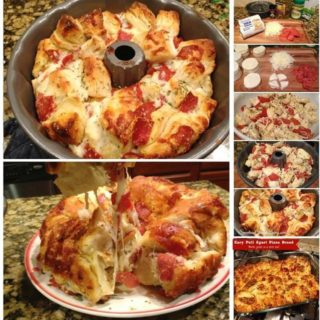 Wonderful DIY Easy Pull Apart Pizza Bread
