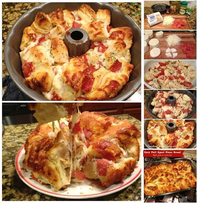 Easy to Make Pizza Bread1 Wonderful DIY Easy Pull Apart Pizza Bread