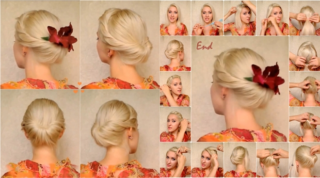 View In Gallery Elegant Updo For Medium Long Hair F