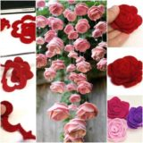 Wonderful DIY Lovely Felt Rose Mobile