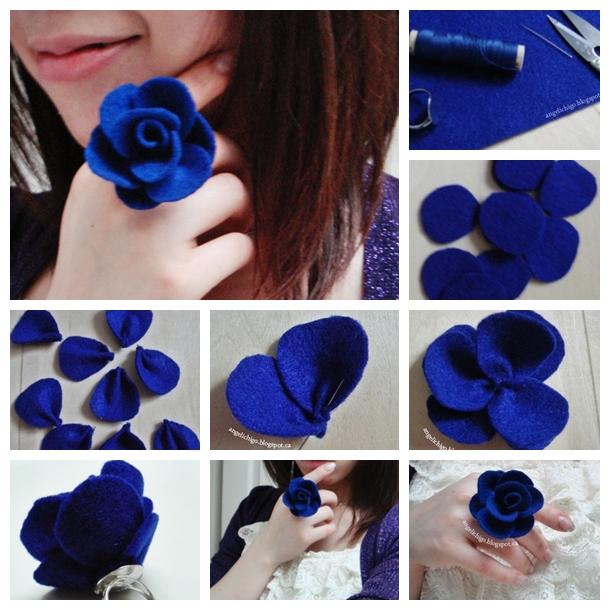 Felt Rose Ring F