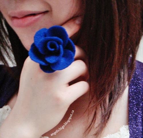 Felt Rose Ring0 Wonderful DIY Pretty Felt Rose Ring