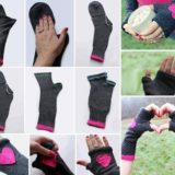 Wonderful DIY Fingerless Gloves From Socks