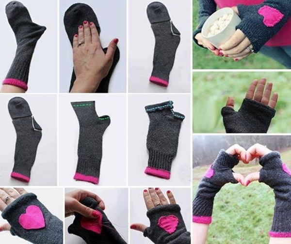 Fingerless Gloves Made from Socks F Wonderful DIY Fingerless Gloves From Socks