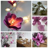 Wonderful DIY Egg Carton Flower Lights