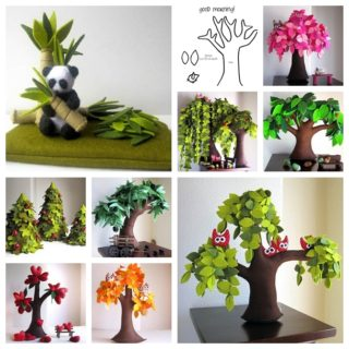 Wonderful DIY Handmade Felt Trees