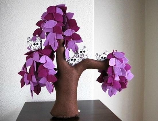 Handmade Felt Trees15