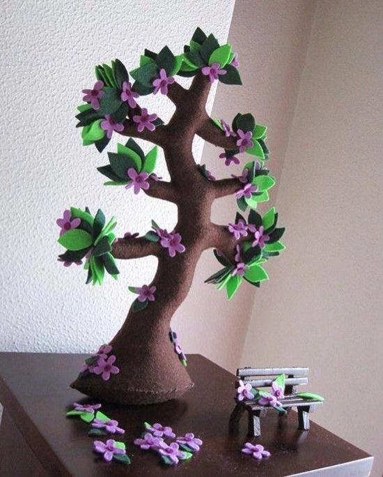 Handmade Felt Trees3