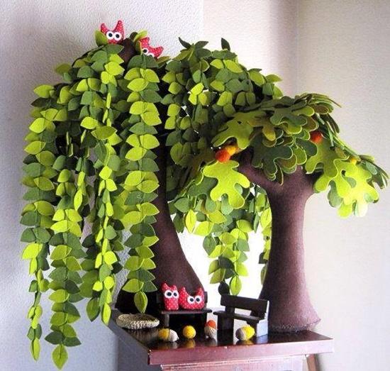wonderful diy handmade felt trees