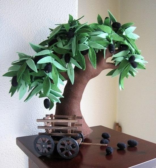 Handmade Felt Trees9