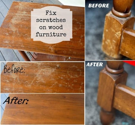 How to fix scratches on wooden furniture wonderfuldiy Wonderful Tips for Cleaning Yellow Pillows