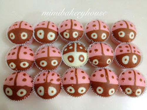 Ladybug Steamed Strawberry Cupcakes1 Wonderful DIY Steamed  Ladybug Cupcakes