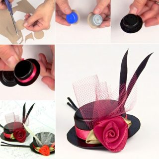 Wonderful DIY Lovely Hair Accessories from Bottle Caps