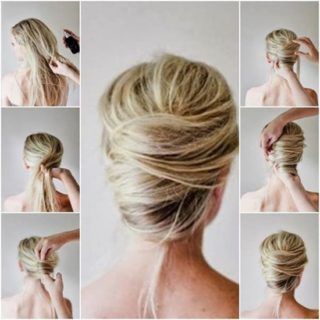 Wonderful DIY Messy French Twist  Hairstyle